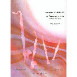 20 ETUDES FACILE - LANCELOT - Clarinette Sib